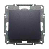 Выключатель 1 клавишный Schneider Electric Sedna Графит SDN0100170