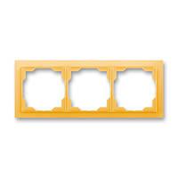 Рамка на 3 поста ABB Neo Белый/Оранжевый лед 3901M-A00130 43