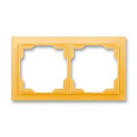 Рамка на 2 поста ABB Neo Белый/Оранжевый лед 3901M-A00120 43