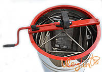 Нержавеющая медогонка с поворотом кассет 4-х рамочная под рамку РУТА
