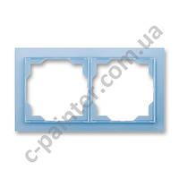 Рамка на 2 поста ABB Neo Белый/Синий лед 3901M-A00120 41