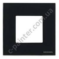 Рамка 1 пост 2 модуля ABB ZENIT Черное стекло N2271 CN