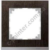 Рамка 1 местная Merten M-Pure Decor Венге Алюминий MTN4010-3671