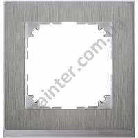 Рамка 1 местная Merten M-Pure Decor Нержавеющая сталь Алюминий MTN4010-3646