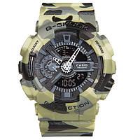 Распродажа! Камуфляжные спортивные часы Casio G-shock GA-110 Green