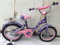 Велосипед детский Profi 16 сиренево розовый 2017, фото 1