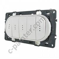 Панель выключатель 5-клавишный с подсветкой  белый Legrand  Celiane 68020