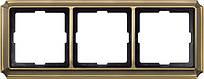 Рамка 3 поста Schneider Electric Merten Antik Античная латунь MTN483343