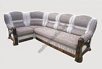 Угловой диван Премьер с деревом