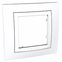 Рамка с декоративным элементом 1 пост Schneider  Electric MGU2.002.18 Белый