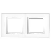 Рамка с декоративным элементом 2 поста  Schneider  Electric MGU2.004.18 Белый
