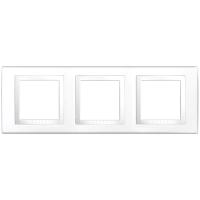 Рамка с декоративным элементом 3 поста  Schneider  Electric MGU2.006.18 Белый