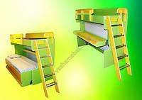 Двухъярусная кровать трансформер Малыш 2