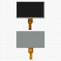 "Дисплей для планшета China-Tablet PC 7"", 7"", (1024*600), (164*97 мм), 30 pin, #WY070ML186/BF757-070-01/FPC0703001_B/BG070CT914TT16TAXM/AL0628A"