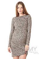 Yammy Mammy Платье-футляр для беременных и кормящих Yammy Mammy арт. 356.2.3 леопардовый принт