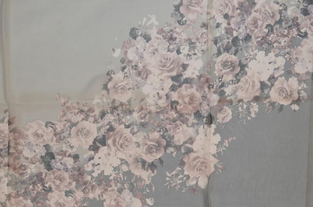 Женский серый модный шифоновый шарф Кармен 2