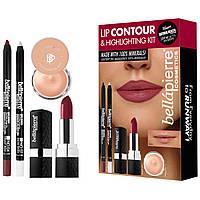 Набор для контурирования губ Bellapierre Lip Contour and Highlighting Kit Red
