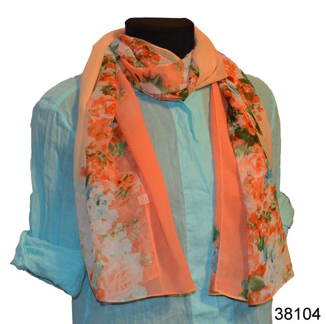 Женский персиковый модный шифоновый шарф Кармен 1