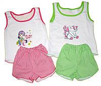 Комплект маечка с шортами для девочек