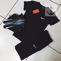 Шорты и футболка Nike, черная футболка и черные шорты, хлопок, S, M, L, XL