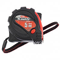 Рулетка Status magnet 3 fixations, 5 м х 25 мм, обрезиненный корпус, зацеп с магнитом// MTX 31005