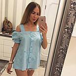 Женская модная летняя блуза прошва (6 цветов), фото 8