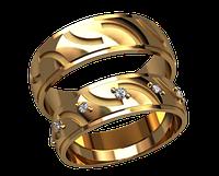 Обручальное кольцо 20009