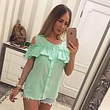 Женская модная хлопковая блуза с прошвой (6 цветов), фото 2