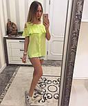 Женская модная хлопковая блуза с прошвой (6 цветов), фото 5