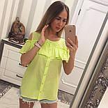 Женская модная хлопковая блуза с прошвой (6 цветов), фото 6
