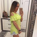 Женская модная хлопковая блуза с прошвой (6 цветов), фото 7