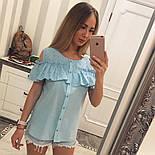 Женская модная хлопковая блуза с прошвой (6 цветов), фото 10