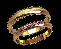 Обручальное кольцо 20005