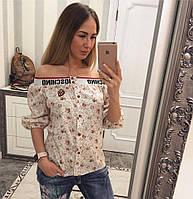 """Женская красивая хлопковая блуза """"Moschino"""" (6 цветов), фото 1"""