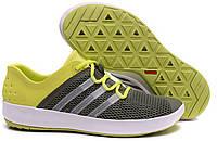 Летние кроссовки  Adidas ClimaCool grey-yellow