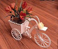 """Подставка под цветы """"Велосипед"""", свадебный декор"""