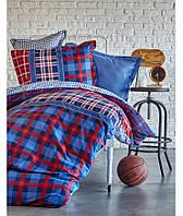 Комплект постельного белья 1,5 с простыней Пике Karaca Home LEAL