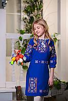 Платье вышиванка детское с манжетами