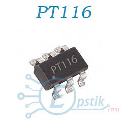 PT116, контроллер питания для телефонов, SOT23-6