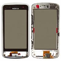 Тачскрин Nokia C6-01 Silver Original ( с рамкой)