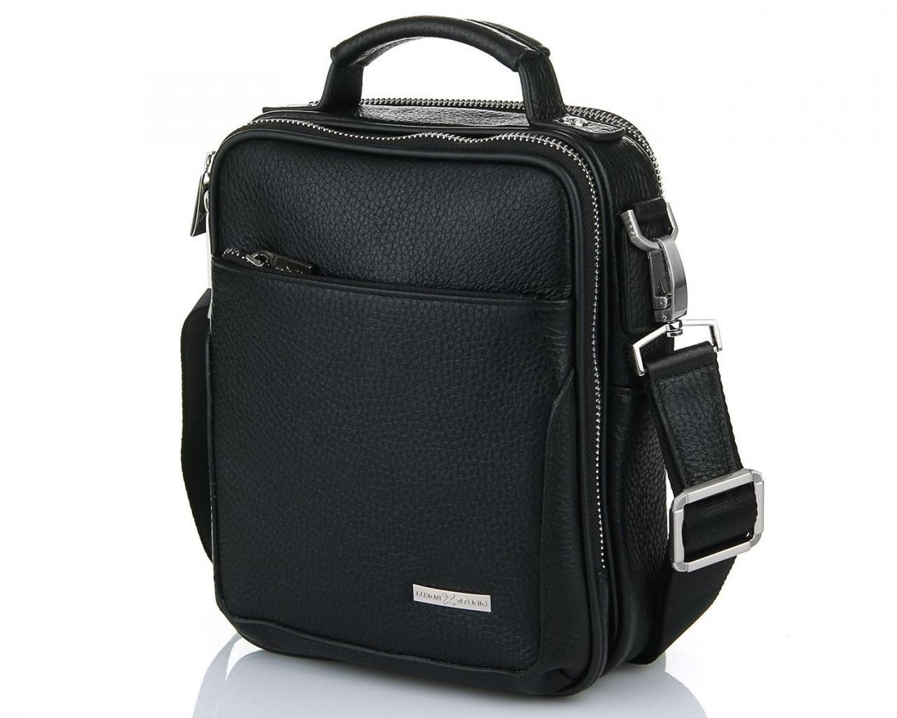 Классическая кожаная сумка Luxon 49581-1