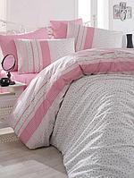 Хлопковое постельное белье ЕВРО Arya Defne розовый AR31