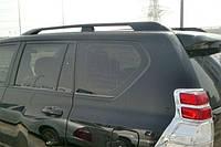 Рейлинги Toyota Land Cruiser Prado 150 2009- Черные усиленные