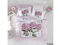 Хлопковое постельное белье ЕВРО Arya Dior розовый AR31