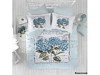Хлопковое постельное белье ЕВРО Arya Dior голубой AR31