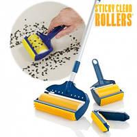 Щетки валики sticky schticky lint roller set стики линт со шваброй