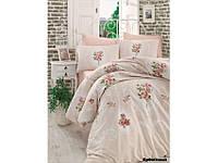 Хлопковое постельное белье ЕВРО Arya Majesty крем AR31