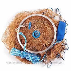 Кастинговая сеть (парашют) из нитки, Американского типа с кольцом