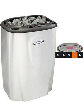 Электрическая каменка Harvia Moderna V80E titanium для сауны и бани, фото 2
