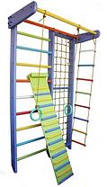 Спортивний куточок комбінований « БУЗКОВА ВЕСЕЛКА» з мотузковим набором
